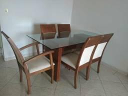 Mesa 6 lugares de madeira