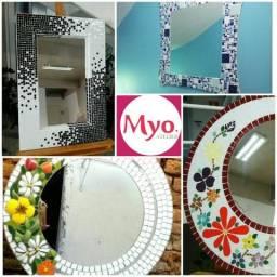 Moldura espelho mosaico