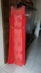 Vestido Longo Vermelho com Bojo