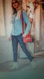 Vendo calça jeans estrela com rasgão