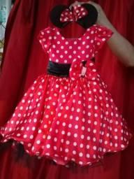 Fantasia da Minnie (acompanha um diademe da Minnie)