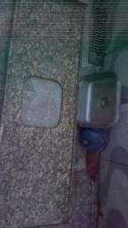 Pia de marmore com Cuba inox.1.80