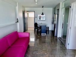 Alugo Flat YACHT COAST, 9° andar, frente mar, camareira, 1 quarto, 56 m², 1 vg, MOBILIADO
