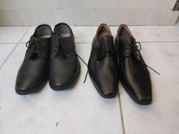 Dois sapatos sociais novos.