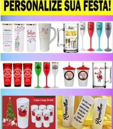 Canecas, Copos e Taças (champanhe ou Gin) Personalizadas