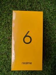 Celular Realme 6 Branco 8GB Ram 128GB de Armazenamento novo