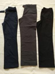Kit 3 calças sociais