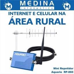 Mini repetidor sinal celular aquário rp-860
