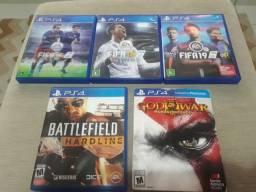 Jogos originais de Playstation 4 (PS4) em ótimo estado.