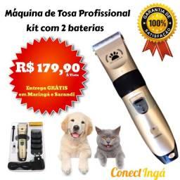 Máquina de Tosa Pet Recarregável com 2 Baterias