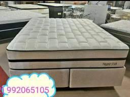 Conjunto cama box Queen 158×198) Trump Star
