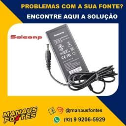 Fonte Notebook Carregador Salcomp 19V! Com 3 meses de garantia!