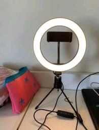 Ring Light 26cm/10 Polegadas + Tripé De Mesa + Suporte Celular