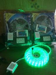 Fita LED Multicolorida 5 Metros c/ Controle e Fonte