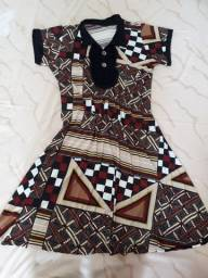 Título do anúncio: Vestido de estampa tribal SEMI NOVO