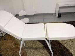 Cama Maca Para Estética 3 Posições - Fabricante: Darus Design - Cor: Branco