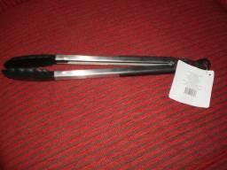 Pegador Inox Com Ponta em Silicone 30cm - Preto