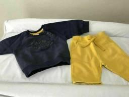 Lote de roupas para bebê menino com saída da maternidade