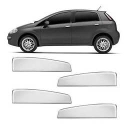 Kit Apliques Maçanetas Cromadas Fiat Punto 2007 Até 2017