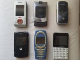 Título do anúncio: Lote de aparelhos celulares antigos