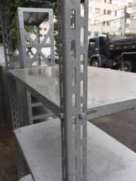 Colunas de aço p prateleiras, 3 m, novas