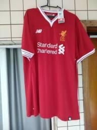 19b1636f1 Liverpool home e away - 2XL New Balance 2017 18 ( 2 camisas)