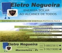Venda e instalações de energia solar