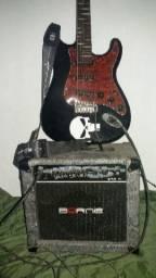 Guitarra Giannini + Caixa ampli Borne