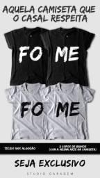Camiseta dia dos namorados + 2 copos 750ml