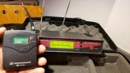 Transmissor profissional Sennheiser EW100G2 original para microfone lapela e instrumentos