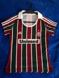 Camisa Fluminense 2009/2010 Tricolor (M) Feminina