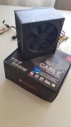 Fonte real 500w gamer thermaltake
