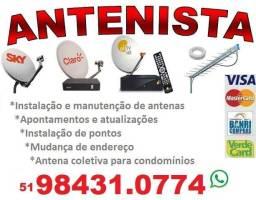 Antenista instalação e manutenção de antenas