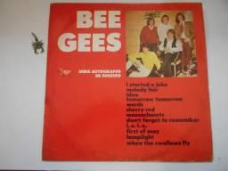 Lp bee gees= autografo de sucessos