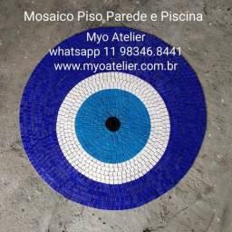 Olho grego mosaico para piso parede piscina