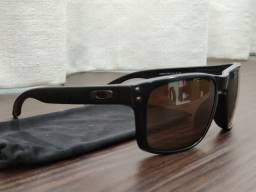 Óculos original Oakley Holbrook Prizm Polarizado Oo9102 D755 Matte Bl