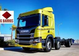 Scania P320 8x2 Aut Cabine leito Completo chassis 2021
