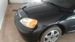 Vendo Honda Civic 2001 preto quatro por