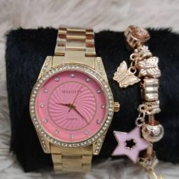 Relógio feminino original Malotty lindíssimo EXCLUSIVO