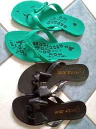 Chinelos Petit Jolie sandália rasteirinha 37