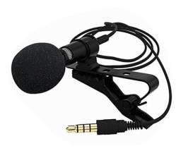 Título do anúncio: Microfone Lapela Profissional P3 Stereo, Celular - Youtubers