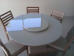 Mesa redonda seis lugares nova completa