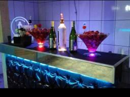 Kit Barman/Bartender intermediário com Balcão/Bar móvel