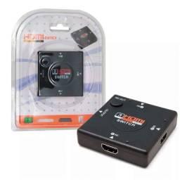 Hub Switch Hdmi 3 Portas Xbox Dvd Tv Lcd Led Playstation - 379