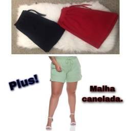 Título do anúncio: Short plus size malha canelada