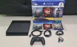 PS4 Slim 1 TB completo