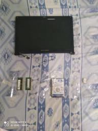 HD 500GB Notebook-2 Memória RAM 2GB cada DDR3-1 Tela LED de Notebook 14''-1 placa de rede