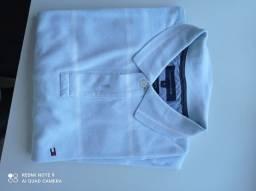 Camisa polo Tommy tamanho xl azul com listrado em branco