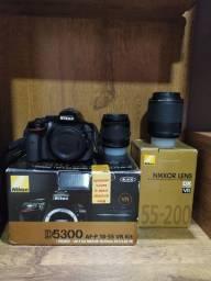Câmera Nikon D5300+ lentes