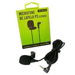 Microfone De Lapela Profissional Celular Youtuber P3 Stereo fio 2.5 metros